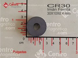 IMÁN CERÁMICO-FERRITA ANILLO 30X10X8.4 MM CLAVE: CR30