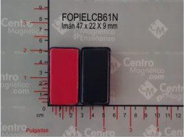 IMAN FORRADO EN PIEL 47X22X9 mm NORMAL CLAVE: FOPIELCB61N
