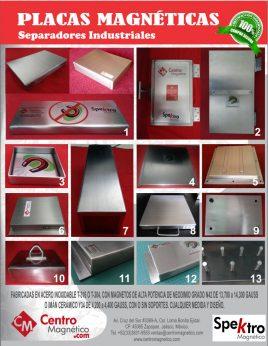 PLACA MAGNETICA PARA SEPARAR RESIUDUOS METÁLICOS FERROSOS. (Cotización sobre Medida y Diseño).