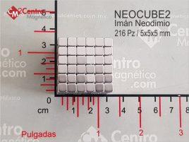 Neocube de 216 piezas con imán cuadrado de Neodimio.